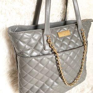 BCBG Paris Quilted Gray Purse Handbag